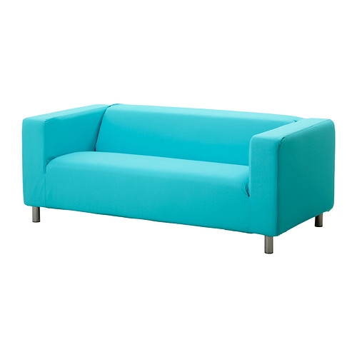 Turquoise Two-Seat Sofa