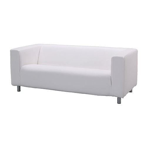 White Two-Seat Sofa